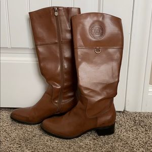 Etienne Aigner brown leather boots!